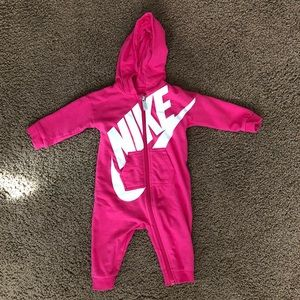 Baby Girl Pink Nike Zippered Outfit